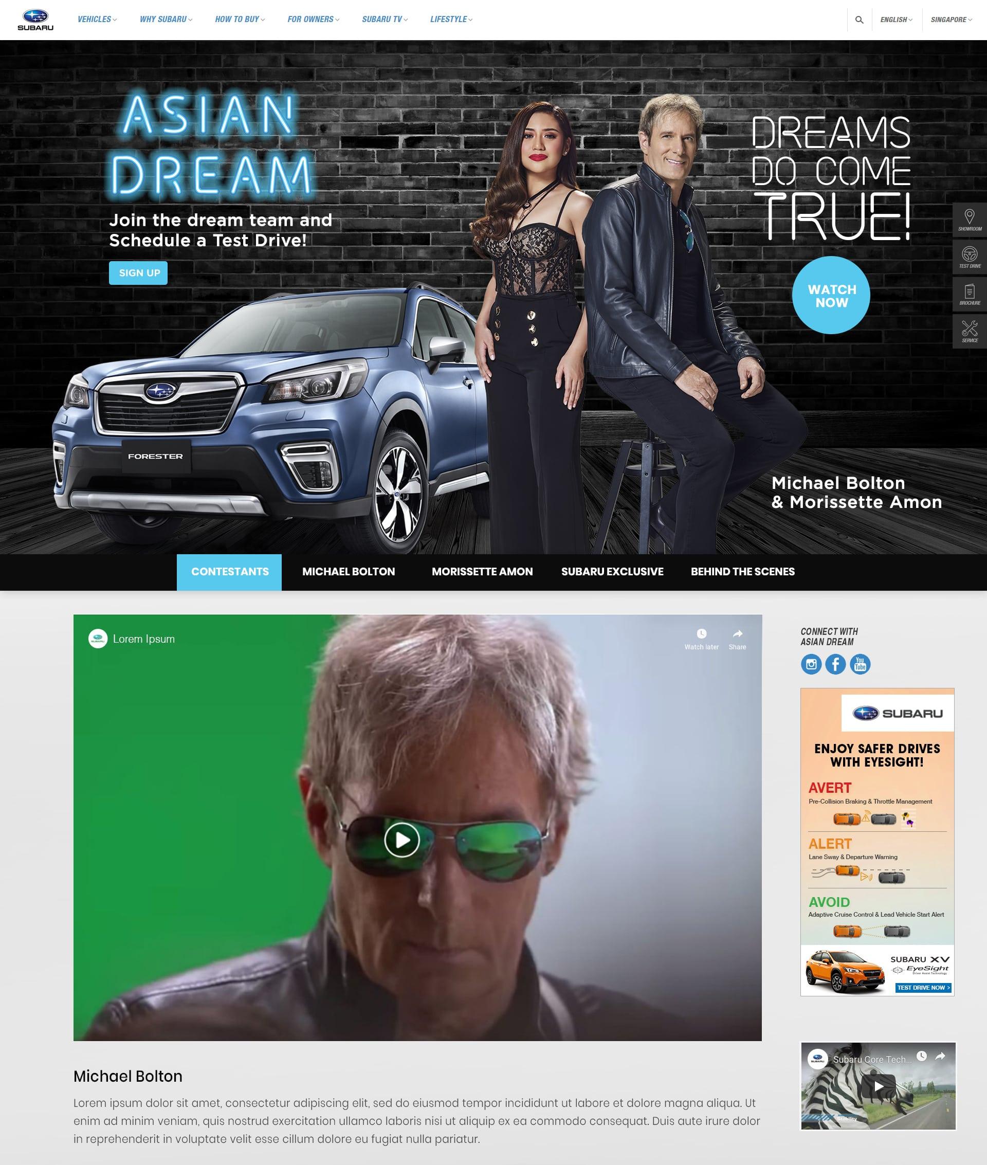 asian dream website mockup