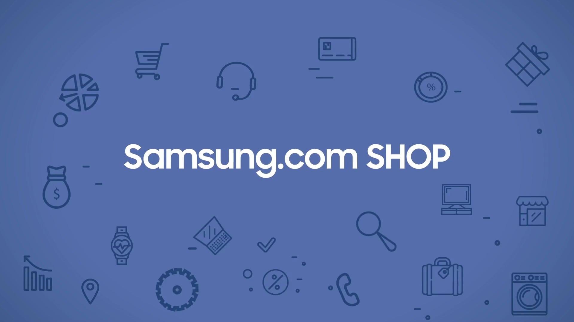 Samsung Shop motion graphic